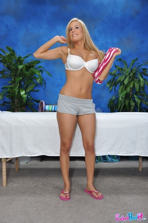 Tanned Blonde Babe photo 5